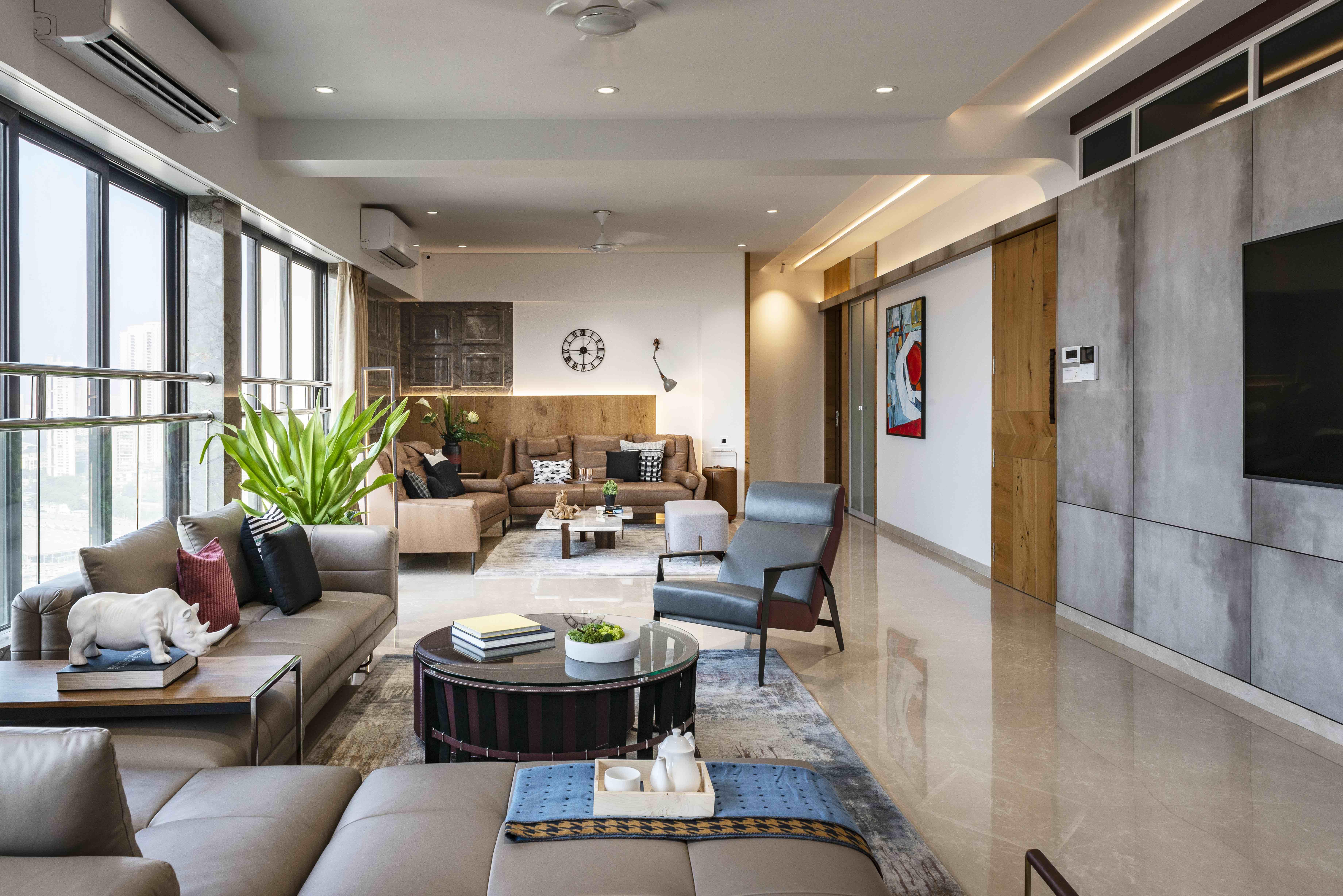 Gaurav Kharkar & Associates showcases effortless harmony across multiple design styles in this contemporary Mumbai apartment