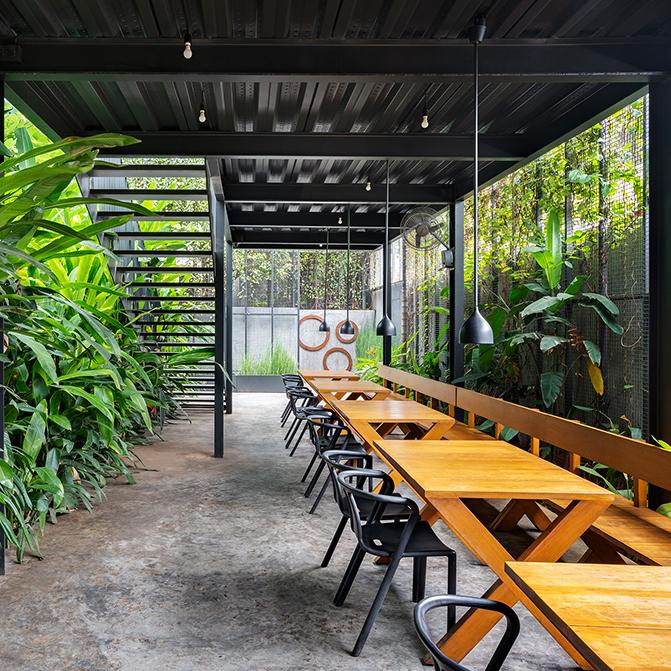 The charming Sunrise Garden Restaurant by M9 Design Studio