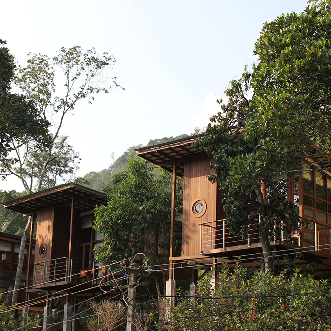 Cardamom Club by Kumar La Noce is a masterful integration of the built form in verdant surroundings