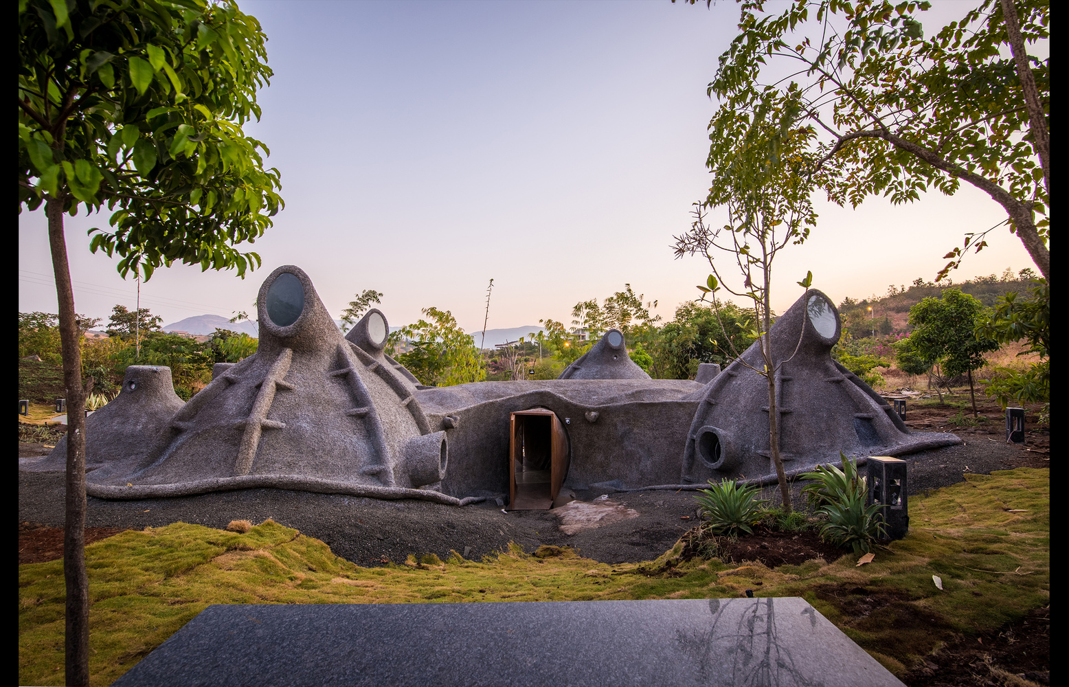 Gumpha House by Within N Without is perhaps the most organic response of the architect to the immediate environment